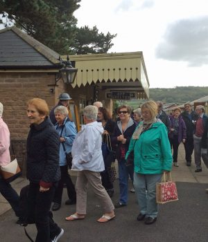 Our group arriving at Winchcombe station